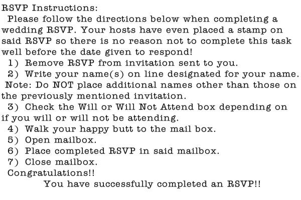 RSVP Instruc